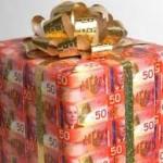 50 dollar bill present